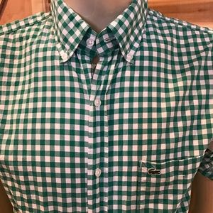 Lacoste Other - 🍾New Men's Lacoste Green Gingham Prep!