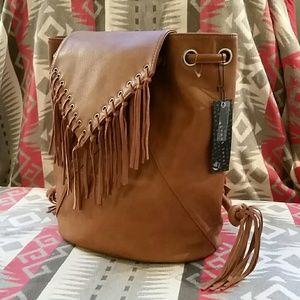 Triple 7 Handbags - NWT Street Level Triple 7 Fringe Boho Backpack