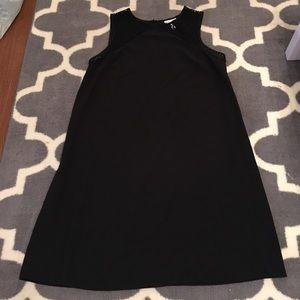 Black crochet shoulder maternity dress