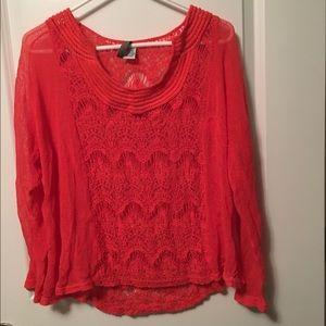 XCVI Tops - Orange Sheer Size  S Blouse
