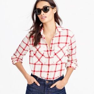 j.crew | boyfriend shirt, vintage red plaid.