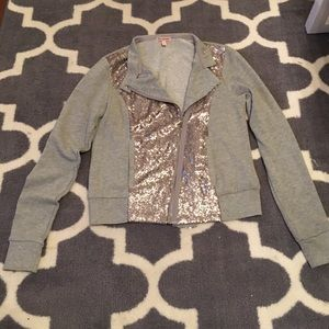 Juicy Couture sequin moto cut athletic jacket