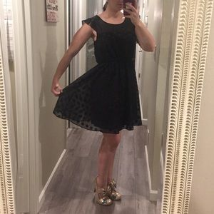 Luxe Essentials Apparel Dresses & Skirts - Luxe Black Polka Dot Dress