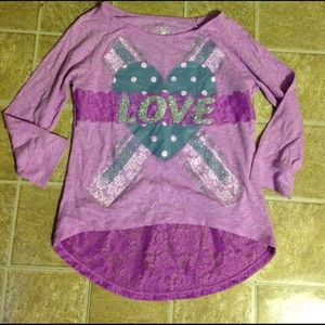 ❤️Cute top from Justice. Girls Sz 12