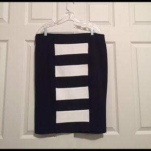 Carmakoma Dresses & Skirts - Carmakoma black and white pencil skirt