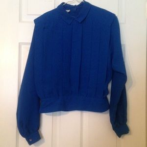 Amanda Smith Tops - Royal Blue Amanda Smith Blouse