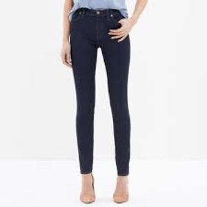 """Madewell 9"""" rise Skinny Jeans in Davis Wash, S: 24"""