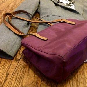 Bogner Handbags - BOGNER SATCHEL MINI TOTE WITH LEATHER STRAPS