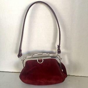 Ralph Lauren Purple Label Handbags - RALPH LAUREN VELVET RUNWAY PURSE