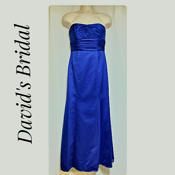 David's Bridal Dresses & Skirts - Prom Cruise Wedding Party Strapless Dress Blue