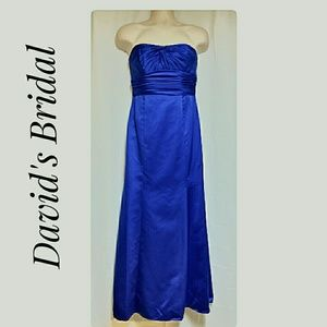 Formal Weddding Cruise Strapless Dress Blue