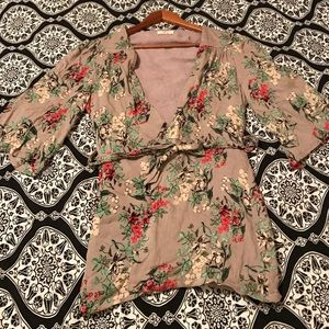 Tulle Tops - Tulle Floral Print Cardigan
