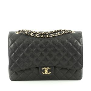 CHANEL Double Flap Maxi Black
