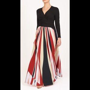 eshakti Dresses & Skirts - New Eshakti Striped Fit & Flare Maxi Dress M 8
