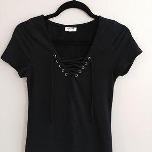 Dresses & Skirts - Small Black Lace Up Dress
