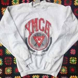 Other - YMCA  vintage sweatshirt Small medium unisex grey