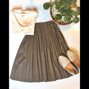  Vintage pleated circle skirt