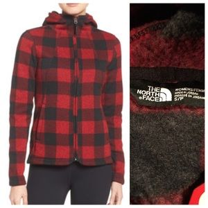 North Face Jackets & Blazers - North Face crescent plaid full zip hoodie