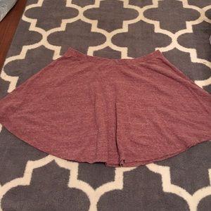 **3 for 10** Heathered maroon circle skirt