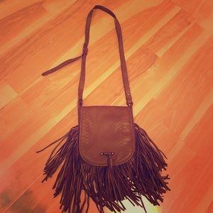 Madden Girl Handbags - brown native indian fringe crossbody boho chic bag