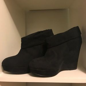 Kelsi Dagger Shoes - Kelsi Dagger 'Wilma' suede wedge booties