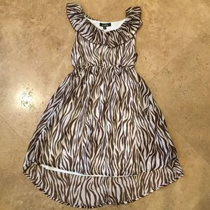 Zunie Other - Brown zebra dress