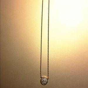 Howlite stone pendant necklace