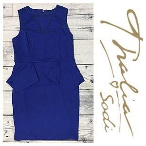 Thalia Sodi Dresses & Skirts - Thalia Sodi Blue Peplum Dress ✨
