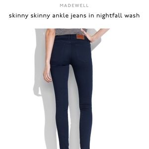 Madewell skinny skinny ankle jeans size 24