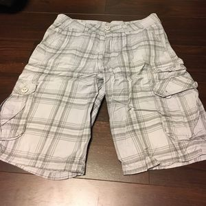 Other - White & Gray Plaid Shorts