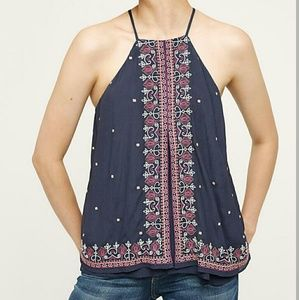 Anthropologie floreat floral tunic