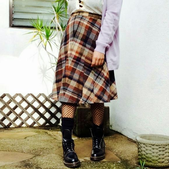 3490bc4cdf Vintage Skirts | Vtg 80s Plaid Grunge Union Made Grunge Skirt | Poshmark