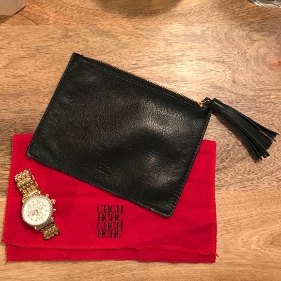 bc8fc2ea1861 Carolina Herrera Handbags - CAROLINA HERRERA Leather Pouch