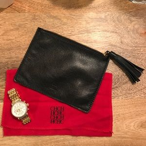 Carolina Herrera Handbags - ⚡️sale⚡️CAROLINA HERRERA Leather Pouch