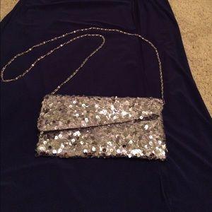 Charming Charlie Handbags - Charming Charlie Sequin Clutch