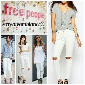Free People Denim - Free People Destroyed Skinny Jeans