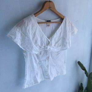 Monsoon Tops - Vintage white blouse