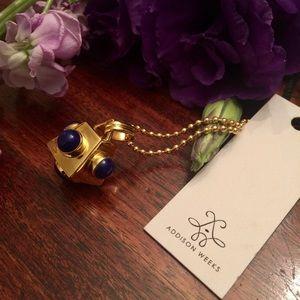 Addison Weeks  Jewelry - Cutchins Birthstone Necklace - Lapis (September)