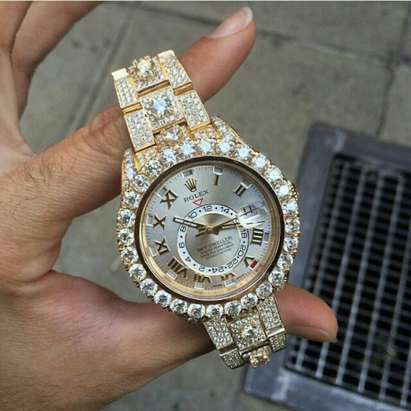 Iced out Rolex sky dweller