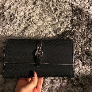 Coach Accessories - Coach black monogram wallet