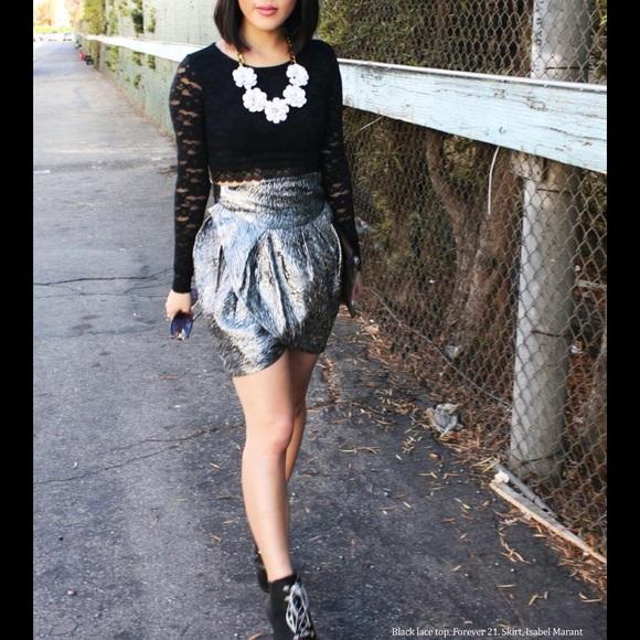 Isabel Marant pour H/&M midi silk skirt-dress sz S