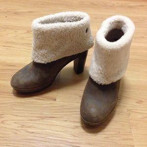 Gerard Darel Shoes - Gerard Darel Sheepskin Cuff Heels