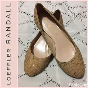 Loeffler Randall Shoes - Loeffler Randall Metallic Cork Flats Sz 5