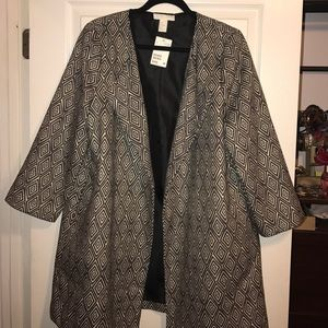 H&M Jackets & Blazers - H&M patterned coat with cropped sleeves
