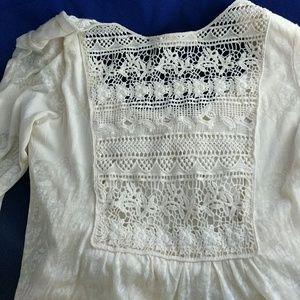 Testament Tops - Testament cream lace long sleeve t-shirt XS