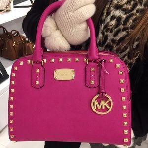 {MICHAEL KORS} pink studded crossbody bag