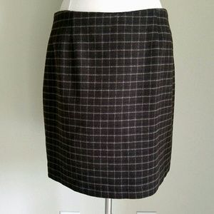 Old Navy Dresses & Skirts - Old Navy Brown Plaid Wool Mini Skirt