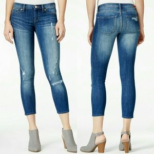 Dittos  Denim - New! Dittos Cropped Blue Skinny Jeans Jennings NWT