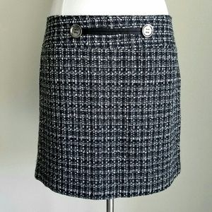 The Limited Dresses & Skirts - Limited Black & White Boucle Plaid Mini Skirt