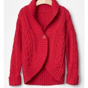 GAP Other - Baby Gap - Red Cable Knit Cocoon Cardigan